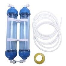 Üst satış su filtresi 2 adet T33 kartuşu konut Diy T33 kabuk filtre şişesi 4 adet bağlantı parçaları su arıtıcısı ters osmoz