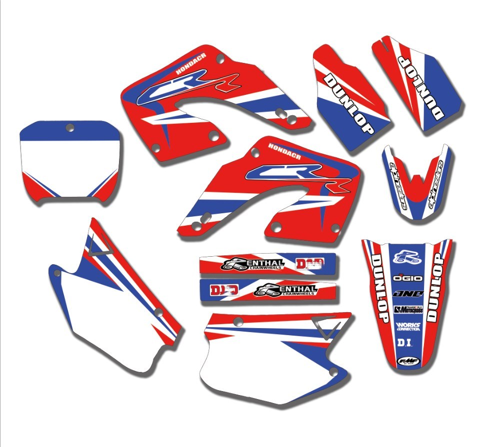 Motorcycle Team Graphics Decals Stickers For Honda CR125 CR125R CR250 CR250R 2000 2001 00 01 CR