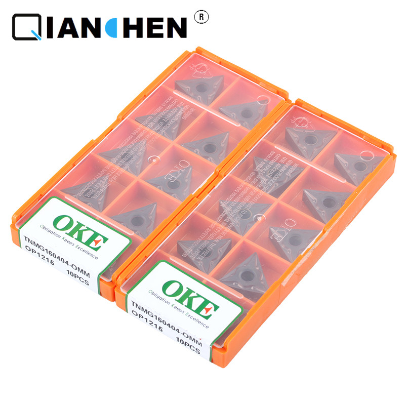 Original Quality OKE 10pcs/lot High Precision High Performance High Strength CNC TNMG160404-OMM OP1215  Industry Carbide Inserts