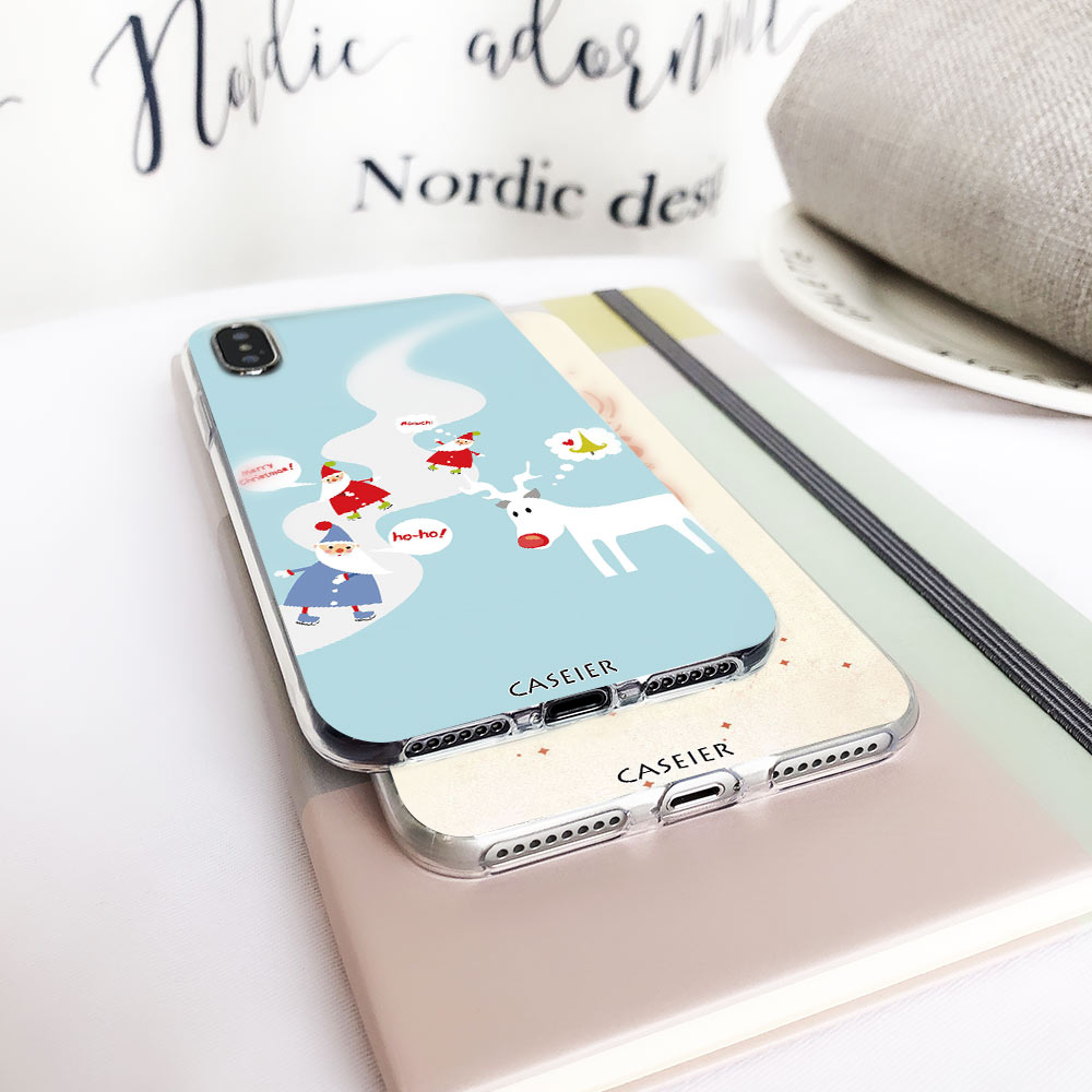 CASEIER Cute Christmas Case For Xiaomi Redmi Note 3S 4 4X 4A 5A 5 Plus Case 2019 New Year Cover For Mi 4 5 6 A1 8 Mi8 SE Funda in Fitted Cases from Cellphones Telecommunications