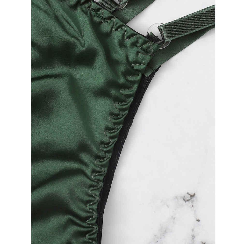 Musim Panas Baru Wanita Seksi Pakaian Dalam Wanita Set Renda Bunga Unpadded Bra Set Nirkabel Bra + Panty Pakaian Babydoll Seksi Wanita Bunga bra