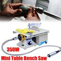 350W Mini Table B ench Saw Carving Machine Polishing Cutting B ench Grinder Router Tool
