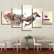 Modular Poster HD Printed Wall Art Framework Pictures Home Decor 5 Panel Abstraction Horse Living Room Modern Canvas Painting