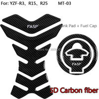 FASP Fuel Tank and Fuel Tank Cap Decal Pad Sticker Pure Carbon For YAMAHA YZF R15 R3 2015 2017
