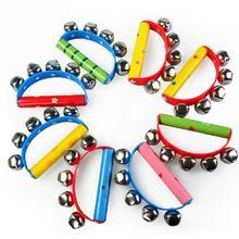 Музыкальный инструмент ручной бубен Jingle встряхивание бубна ритм ударный инструмент для ребенка