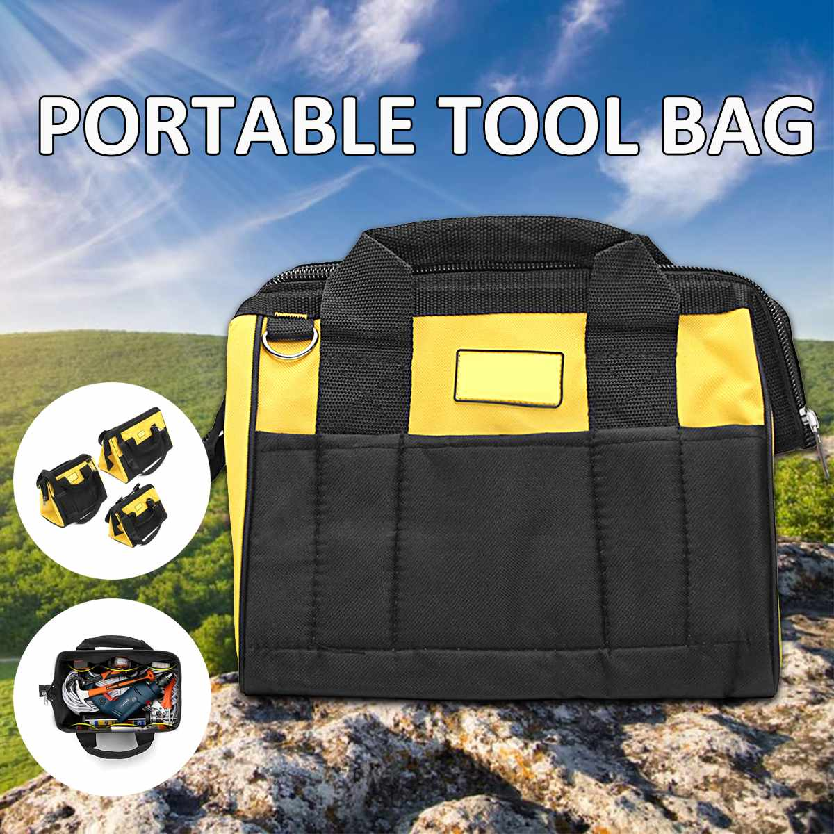 Canvas Nylon Tool Bag Storage Multitool Large Capacity For Tools Hardware Adjustable Shoulder Travel Bags Hand Tool Kit Set Bags