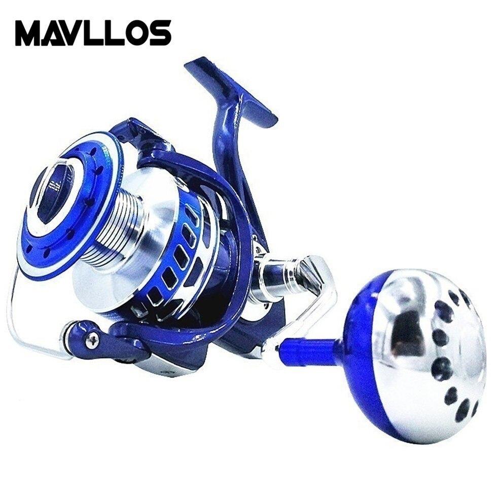 Mavllos Max Glisser 30 kg D'eau Salée Jigging Moulinet De Pêche Anti Corrosion 13BB Vitesse Ratio 4.7: 1 mer Basse Bateau Moulinet De Pêche