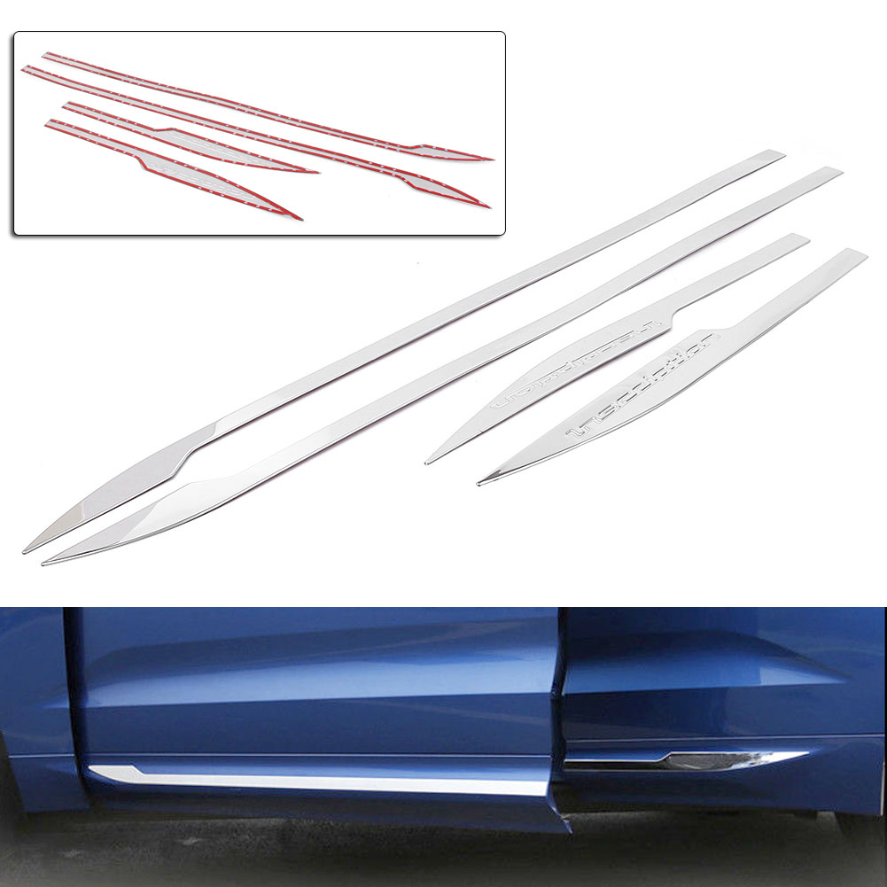 4PCS Auto Car Styling Side Door Body Bottom Molding Cover Trim Decorations For Volvo XC60 2018