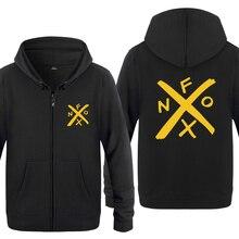 NOFX מוסיקה חידוש חולצות גברים 2018 Mens רוכסן ברדס צמר נים סוודרים