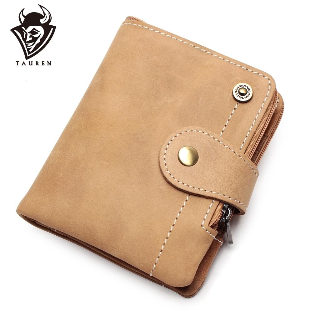 Functional Crazy Horse Leather Wallet Men Hasp Pocket Mini Card Holder Male Coin Purse Wallet Genuine Short Design Wallet