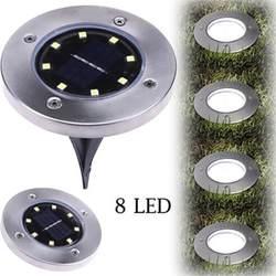 Hollyсветодио дный et светодиодный солнечный свет наземный свет наружные водостойкие садовые огни 8 светодио дный s солнечные огни для