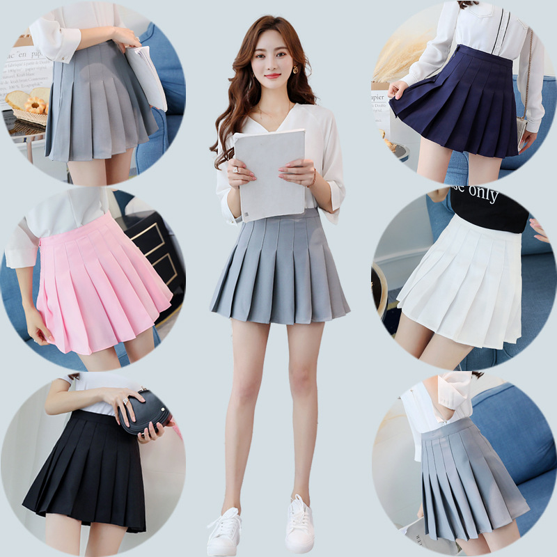 2018 Preppy Style High Waist Chic Striped Stitching Skirt Student Elastic Waist Pleated Skirt Women Cute Sweet Girls Dance Skirt