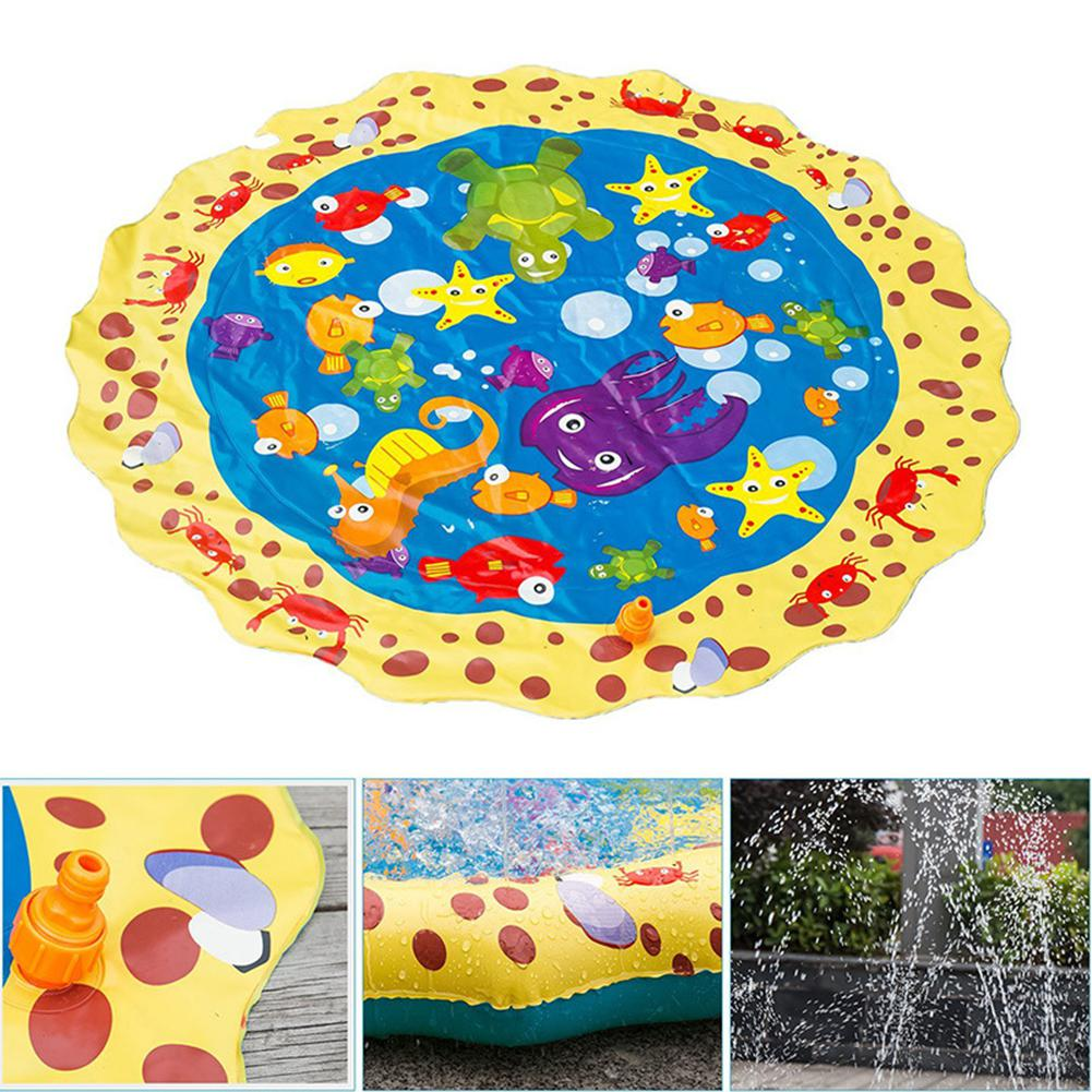 None 39 Inches Summer Play Water Games Toy Lawn Inflatable Sprinkler Cushionfor Kids Baby