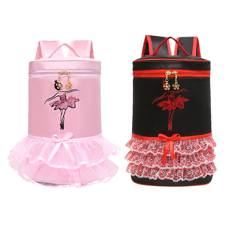 Girl Professional Dance Ballet Bag Baby Children Ballerina Waterproof Gymnastics Backpack Kid Handbag With Cute Tutu Skirt Dress