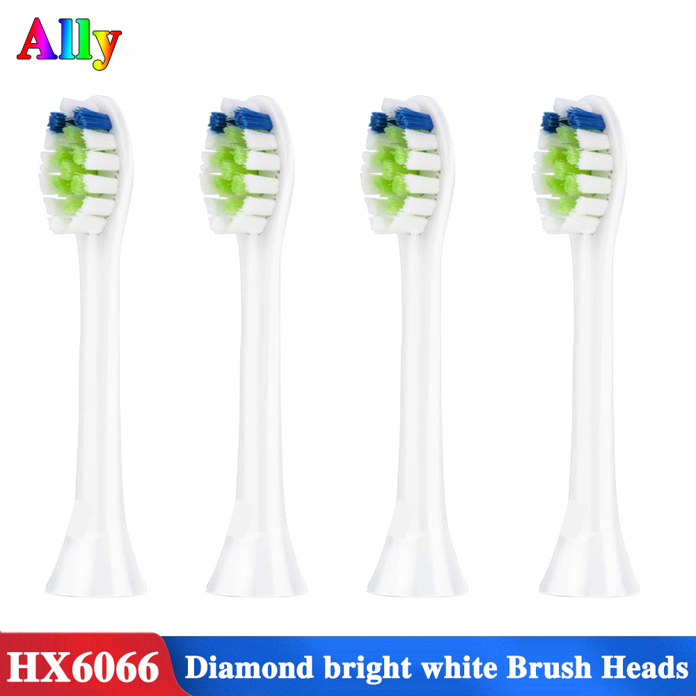 4pcs for Philips Sonicare DiamondClean replacement toothbrush heads, HX6064/65 HX6730 HX9352 HX9362 HX6616 Electric Toothbrush image