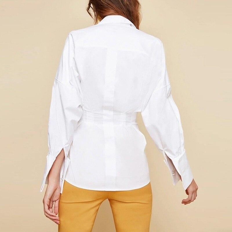 Verband Casual Bluse Langarm Fr Twotwinstyle WeiTops Shirts Frauen Laterne Frau CBoedrx