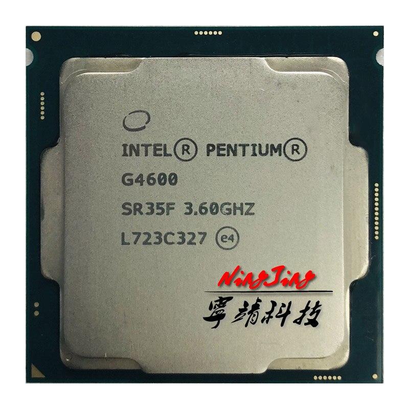 Intel Pentium G4600 3 6 GHz Dual Core Quad Thread CPU Processor 3M 51W LGA 1151
