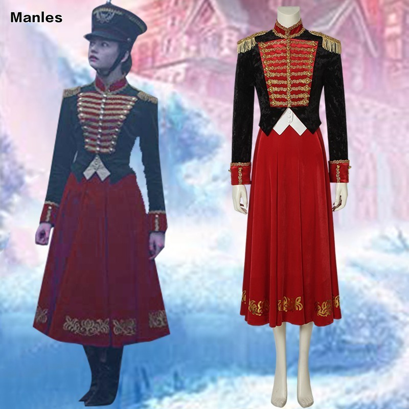 The Nutcracker And The Four Realms Movie Costume Clara Cosplay Halloween Soldier Customize Adult Custom Made Dress Princess