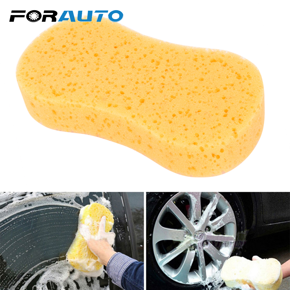 FORAUTO Car Washing Sponge Car Wash Auto Paint Care 22cm Length Multipurpose Cleaning Tool Vacuum Compressed