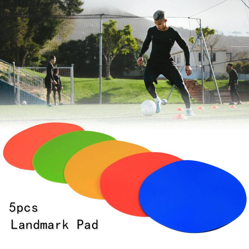 5PCS Round Rubber Flat Cones Training Spot Markers Football Pitch Floor Discs Sports