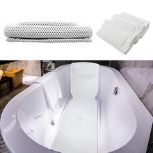 ПВХ пена Универсальный полый из ванны полный корпус Коврик для ванны в спа Нескользящая подушка с подушкой присоской шеи и обратно ванная комната поставка