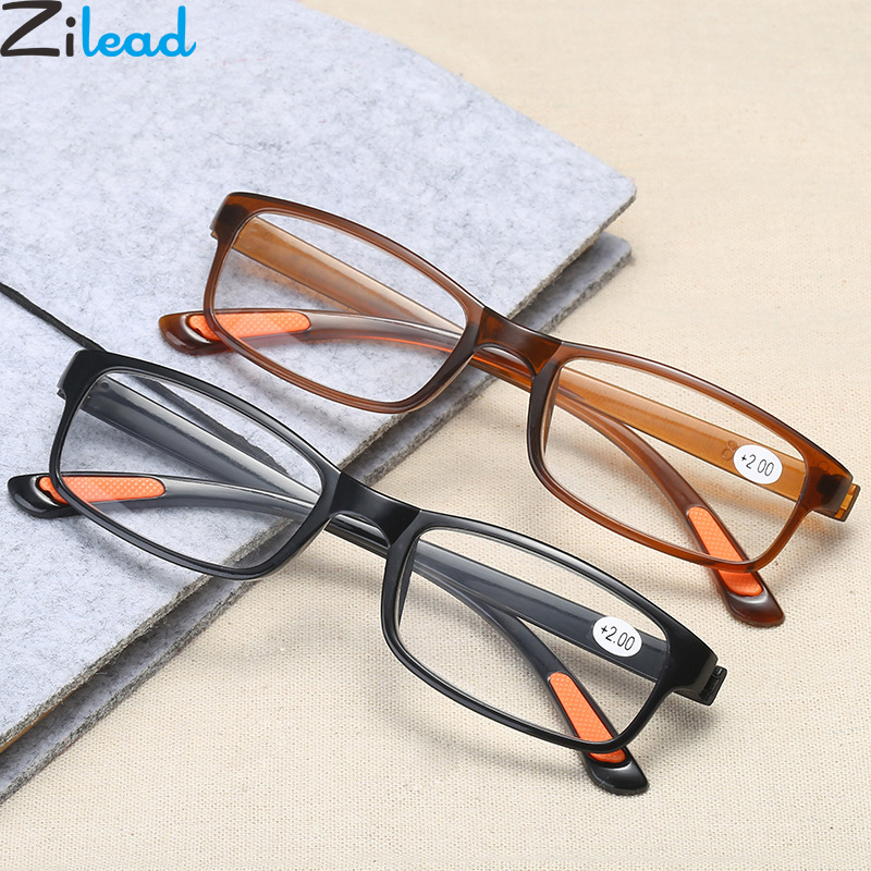 Zilead TR90 Ultra-light Reading Glasses Women&Men Foldable Magnifying Presbyopic Glasses With Diopter +1.0to+4.0