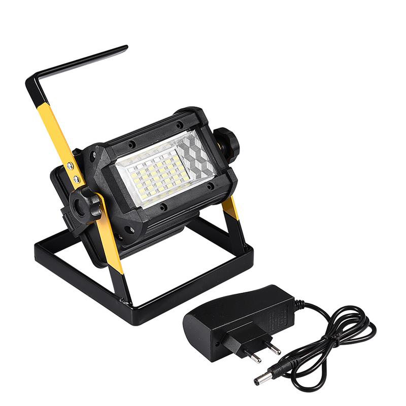 Rechargeable Floodlight 36 50W LED Spotlight Lamp 2400LM Portable Flood Light Work Lamps With Charger For Outdoor Camping Repair