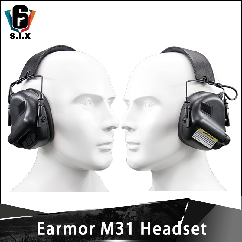OPSMAN Earmor Tactical Ear Muff Hearing Protection M31 Headset Airsoft Sport Earmuff Active Headphones For Shooting