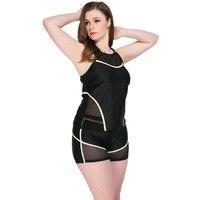 Fashion Beach Bathing Suit Summer Conservative Swimwear 3 Pcs Set Vest + Shorts + Trousers Swimsuit Women Plus Size Swimsuit