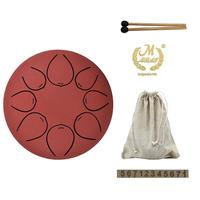 5 inch MMBAT Steel Tongue Drum 8 Tone G Tune Hand Pan Drum Tank Hang Drum with Drumsticks Carrying Bag Percussion Instruments