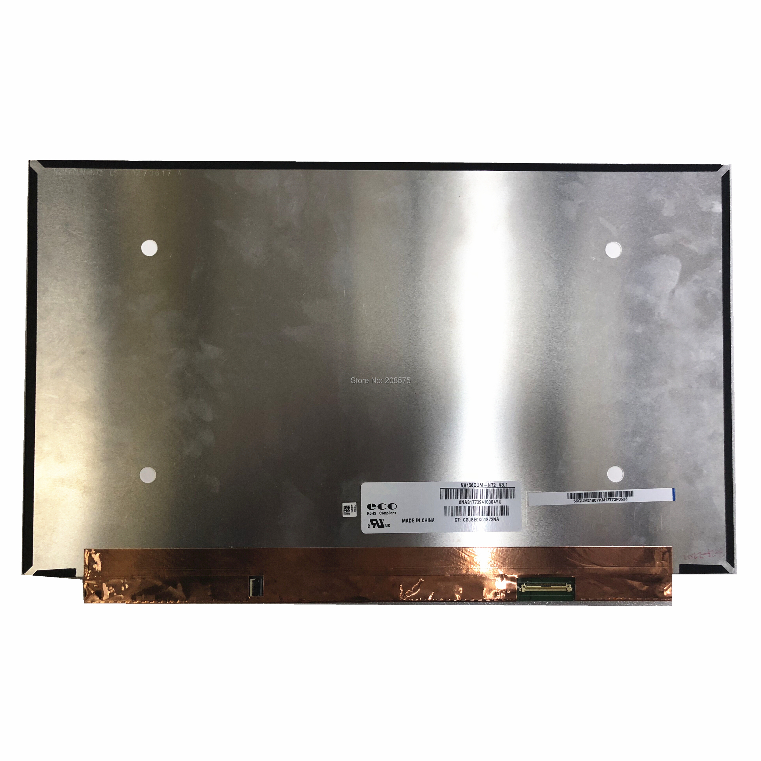 Freeing shipping NV156QUM-N72 NV156QUM N72 15.6 UHD 4K Laptop Lcd Screen 3840*2160 EDP 40Pins Display Non-touch ReplacementFreeing shipping NV156QUM-N72 NV156QUM N72 15.6 UHD 4K Laptop Lcd Screen 3840*2160 EDP 40Pins Display Non-touch Replacement
