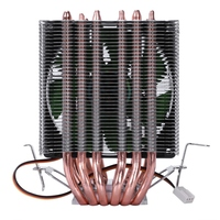 Lanshuo 6 tubo de calor 3 fio sem luz único ventilador cpu ventilador refrigerador do dissipador calor para intel lga 1155/1156/1366 calor mais frio