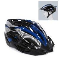 Casque bleu visière cyclisme VTT velo casque velo