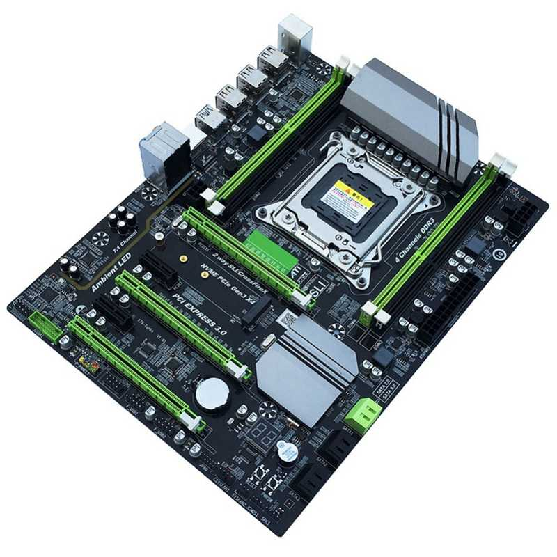 X79T Ddr3 PC Desktop Motherboard LGA 2011 CPU Komputer 4 Channel Game Dukungan M.2 E5-2680V2 I7 SATA 3.0 USB 3.0 untuk Intel B
