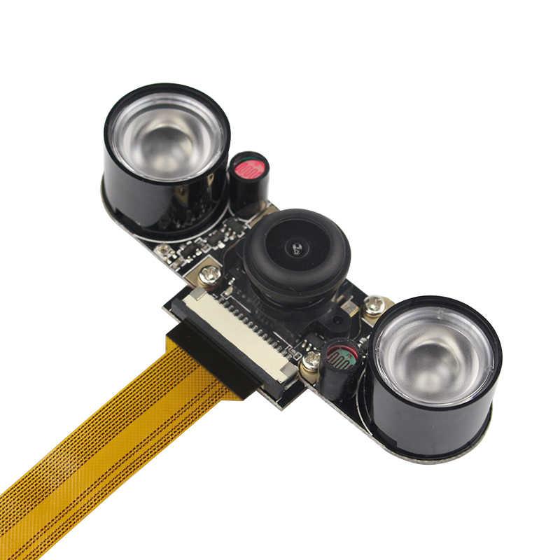 التوت بي صفر كاميرا الليل 2 قطعة الأشعة تحت الحمراء LED 5MP وحدة الكاميرا لتوت العليق صفر زاوية واسعة عين السمكة كاميرا ويب