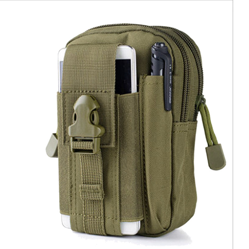 Moble Waist Bags Men's Out Casual Waist Pack Purse Mobile Phone Case Packs Camouflage Canvas Bag