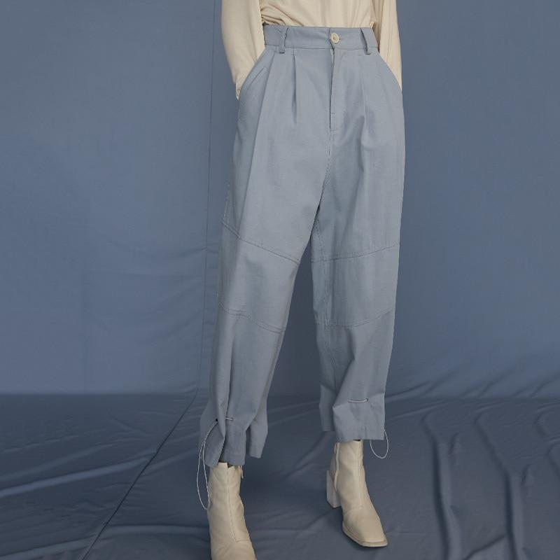 Las Pantalones Línea Blue Primavera Pierna Ancha De Suelto 2019 Conjunto Marea Jq485 eam black Escupir Negro Verano Alta La Mujeres Moda Nueva Cintura 1qZOgwO78