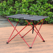 Cloth Desktop Portable Collapsible Outdoor Dining Furniture Camping Folding Picnic Table Aluminum Alloy Make Tea Barbecue Desk