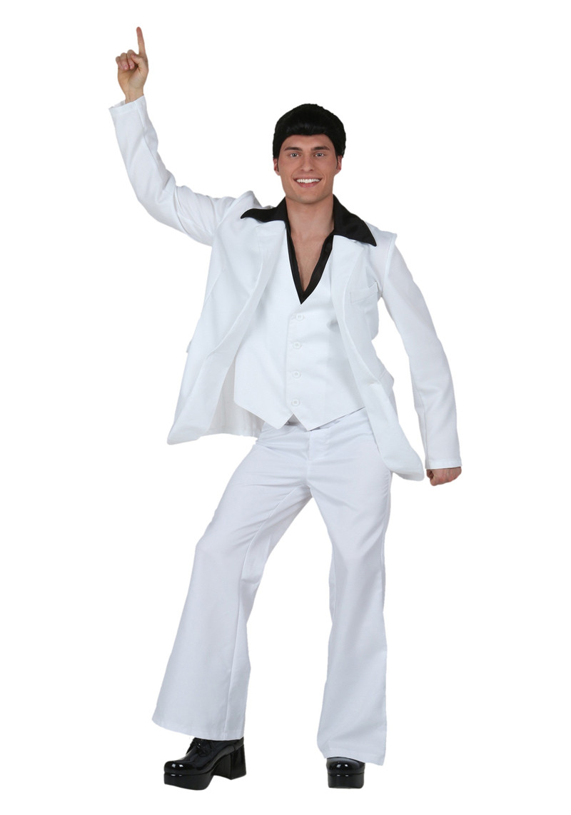 Adult Deluxe Saturday Night Fever Costume Men's Funky Disco Ball Tuxedo Dance Costume