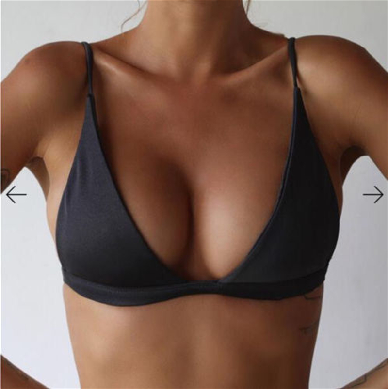 2019 Brand New Sexy Women Cute Girl Bandage Bikini Push-up Beach Bathing Swimwear Ultrathin Padded Bra Only A Bra 4