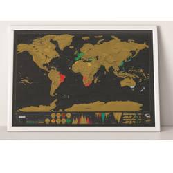НОВЫЙ Deluxe Travel Edition Скретч Карта мира Плакат персональный журнал большая карта 82,5x59,4 см Прямая доставка