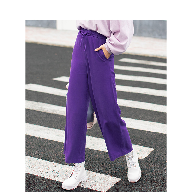 INMAN Spring Autumn Slim Retro Casual All Matched Sport Style Student Women Loose Pants