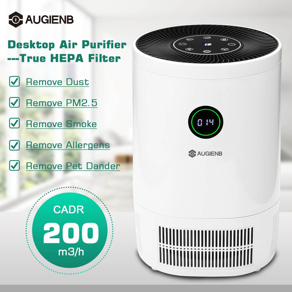 AUGIENB 2019 New Air Purifier Ionizer With HEPA Filter Remove Odor Smoker Dust Wash Air For Home Room Air Cleaner Filter-in Air Purifiers from Home Appliances