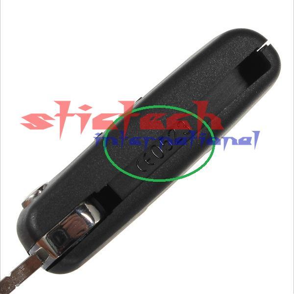 По DHL или FedEx 100 шт. дистанционный брелок корпус 3 кнопки для CITROEN C2 C3 peugeot