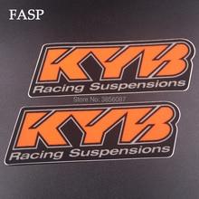 FASP 2 peças Emblema Adesivo Decalque Da Motocicleta Para suspensão KYB