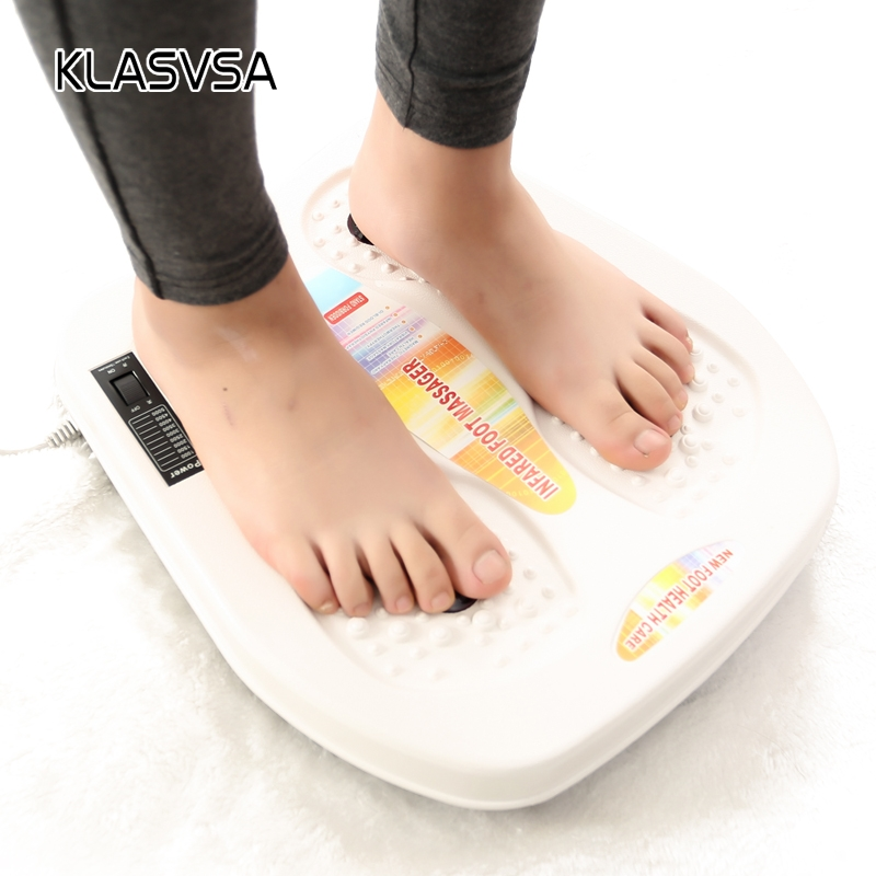 KLASVSA Far Infrared Heating Foot Massage Vibration Magnetic Therapy Spa Massager Foot Electric Muscle Stimulator Health