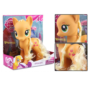 Image 5 - 22cm My Little Pony Toys Rarity Apple Jack Rainbow Dash Princess Celestia Action Figure Collection Model Doll For Kids Gifts