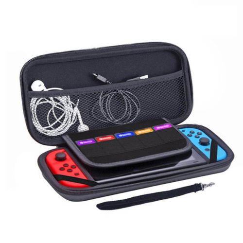 Nintendo Switch Hard Shell Carrying Display Case EVA Black Plain Bag Cover Game console storage bag