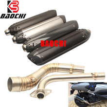 Motorcycle Exhaust System Muffler Escape DB Killer Mid Tube Silencer for Yamaha Nmax 125 155 NMAX155 2015 2016 2017 MIVV Vintage все цены