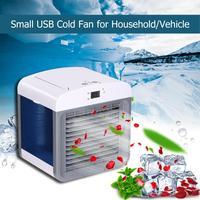 Car Auto Air Cooling Fan USB Mini Air Conditioner Fan Filtration Humidifier Purifier Low Noise Car Auto Cooler Air Fan